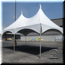 Tent, 20'x30', frame includes two sides