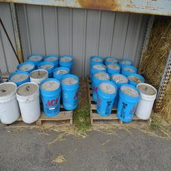 Tent, concrete buckets-extra $