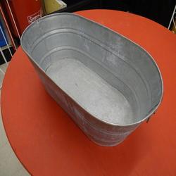 Tub, galvanized oval