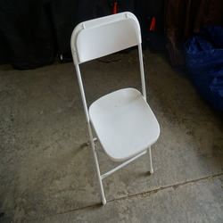 Chair, white metal frame, general stock